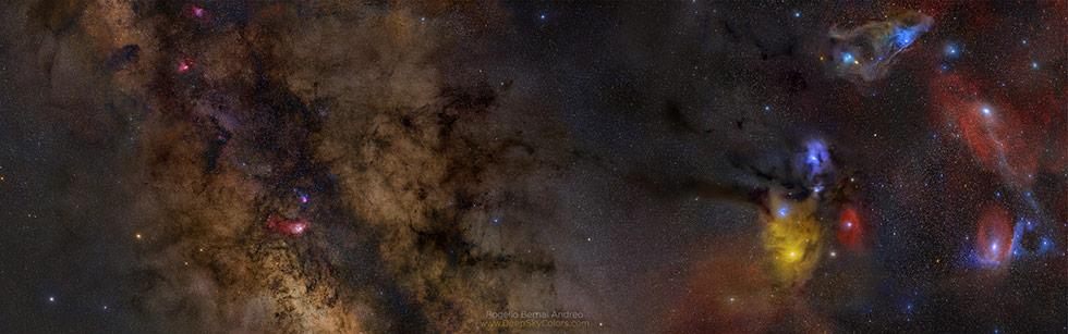 银河中心-4张照片马赛克拼图