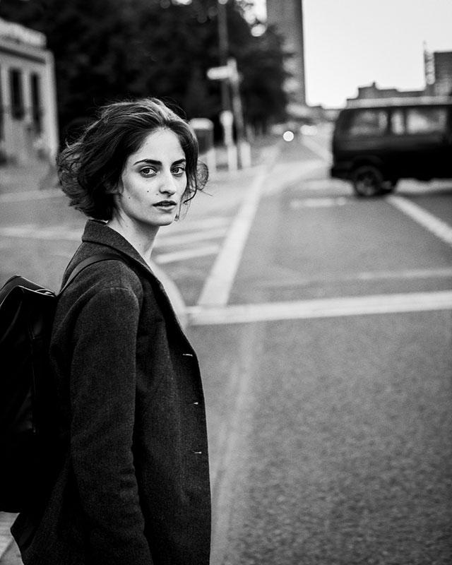 柏林街头的黑白肖像摄影